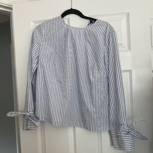 Banana Republic- pinstripe blouse- COOL!